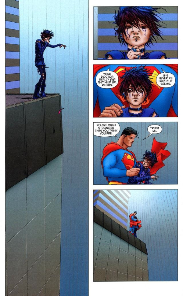 Grant Morrison and Frank Quitely's All-Star Superman - Regan on the Ledge